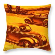 Vintage Ford Advertisement Throw Pillow