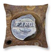 Vintage Fargo Wheel Art Throw Pillow