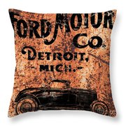 Vintage Ford Motor Company Throw Pillow