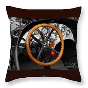 Vintage Ford Racer Dashboard Throw Pillow