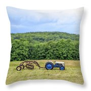 Vintage Ford Tractor Tilt Shift Throw Pillow