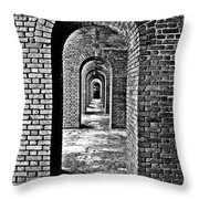 Vintage Fort Throw Pillow
