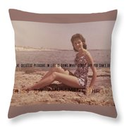 Vintage Glamour Quote Throw Pillow