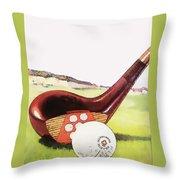 Vintage Golf Art - Circa 1920's Throw Pillow