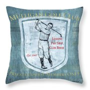 Vintage Golf Blue 1 Throw Pillow