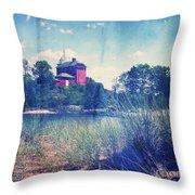 Vintage Great Lakes Lighthouse Throw Pillow