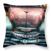 Vintage Green Chevy Truck Throw Pillow