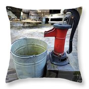 Vintage Hand Pump Throw Pillow
