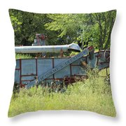 Vintage Harvester In A Field Throw Pillow