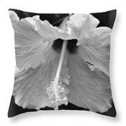 Vintage Hibiscus Throw Pillow