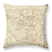 Vintage Hollywood Starland Throw Pillow