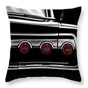 Vintage Impala Black And White Throw Pillow