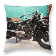 Vintage Indian Black Throw Pillow