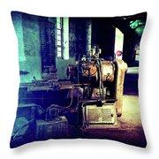 Vintage Industrial Blueprint Throw Pillow