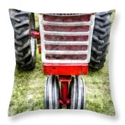 Vintage International Harvester Tractor Throw Pillow