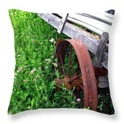 Vintage Irrigation Wagon Throw Pillow