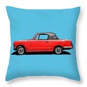 Vintage Italian Automobile Red Tee Throw Pillow