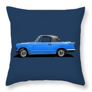 Vintage Italian Automobile Tee Throw Pillow