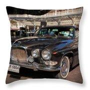 Vintage Jaguar Throw Pillow