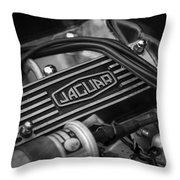 Vintage Jaguar Engine Throw Pillow