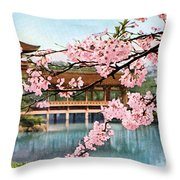 Vintage Japanese Art 12 Throw Pillow