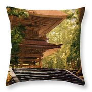 Vintage Japanese Art 16 Throw Pillow