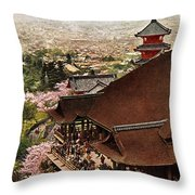 Vintage Japanese Art 19 Throw Pillow