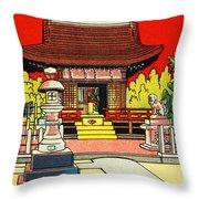 Vintage Japanese Art 2 Throw Pillow