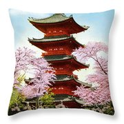 Vintage Japanese Art 21 Throw Pillow