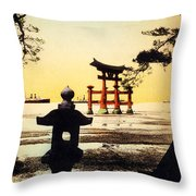 Vintage Japanese Art 23 Throw Pillow