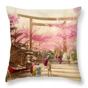 Vintage Japanese Art 25 Throw Pillow