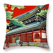 Vintage Japanese Art 4 Throw Pillow