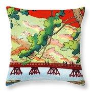 Vintage Japanese Art 6 Throw Pillow