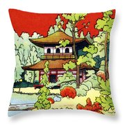Vintage Japanese Art 7 Throw Pillow