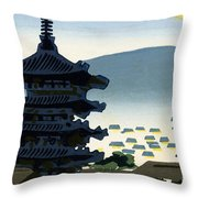 Vintage Japanese Art 9 Throw Pillow