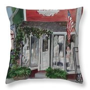 Vintage Lady Throw Pillow