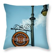 Vintage Lamp And Sign Throw Pillow
