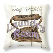 Vintage Laundry Room 1 Throw Pillow