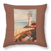 Vintage Lighthouse Throw Pillow