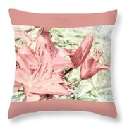 Vintage Lilly Delight Throw Pillow