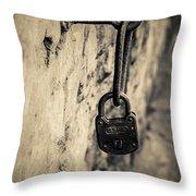 Vintage Lock Throw Pillow