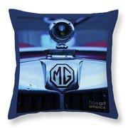 Vintage M G Emblem Throw Pillow