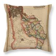 Antique Map Of Georgia Throw Pillow