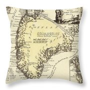 Vintage Map Of Greenland - 1791 Throw Pillow