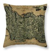 Vintage Map Of Ireland 1771 Throw Pillow
