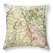 Vintage Map Of New Hampshire - 1796 Throw Pillow