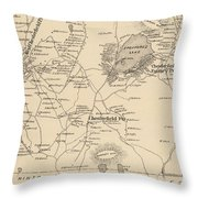 Vintage Map Of Spofford And Chesterfield Nh - 1892 Throw Pillow