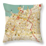 Vintage Map Of Tarrytown New York - 1893 Throw Pillow