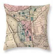 Vintage Map Of Trenton Nj - 1872 Throw Pillow