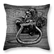 Vintage Metal Handle Throw Pillow